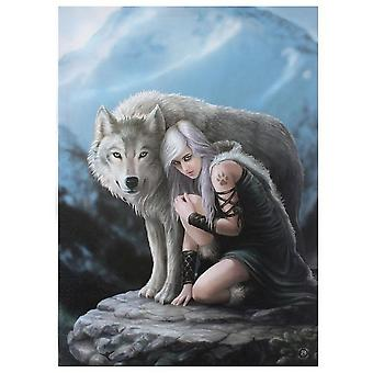 Anne Stokes Protector Canvas Plaque
