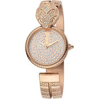 Just Cavalli Glam Chic Snake Watch JC1L086M0035 - Plated Stainless Steel Ladies Quartz Analogue