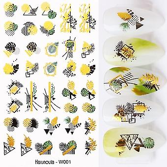 Nail Art Adhesive Decor Leaf Stickers - Manicuring Foils Geometric Slider