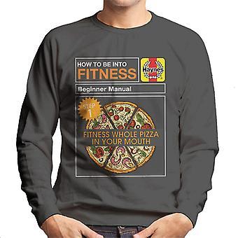 Haynes Fitness Pizza Aloittelija Manuaalinen Miesten's Collegepaita