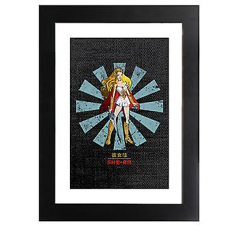 She Ra Retro Japanese Framed Print