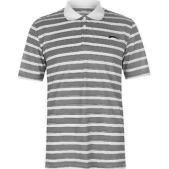 Slazenger Stripe Polo Shirt Mens
