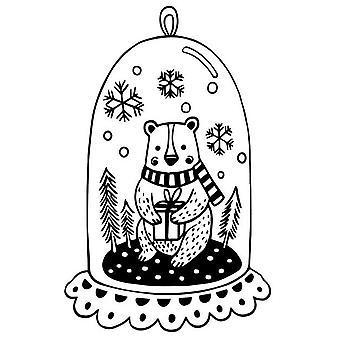 Aladine puinen leima joulu lasi karhu