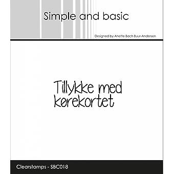 Simple and Basic Danish Texts 6 Clear Stamps