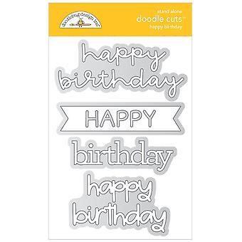 Doodlebug Design Hyvää syntymäpäivää Doodle Leikkaukset
