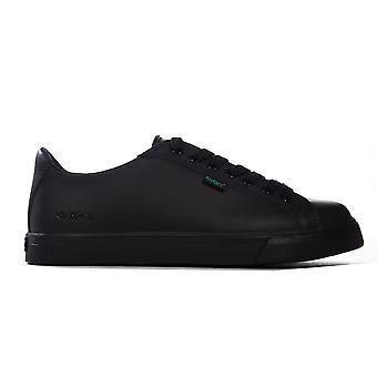 Kickers Tovni Lacer Teen Leather Kids School Fashion Trainer Shoe Black