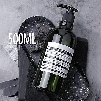 Shampoo Shower Gel Body Wash Bottles Dispenser Soap Empty Press Refillable Plastic Cosmetic Bathroom Storage