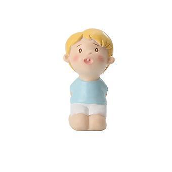 Resin Figurines Home Cartoon Ornament Rose Boy