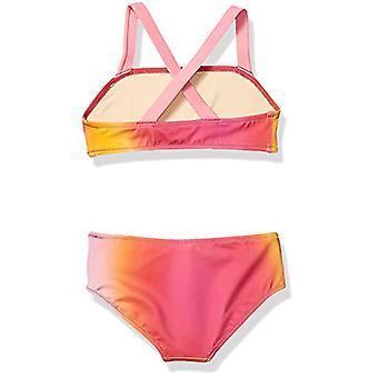 Essentials Girl's 2-Piece Bikini Set, Ombre Pink, X-Small
