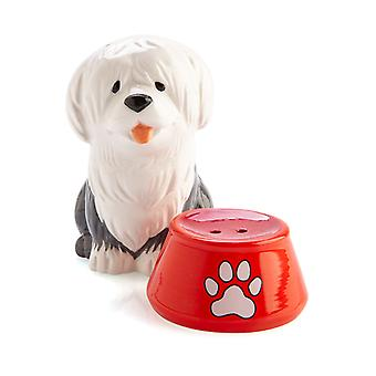 Sheepdog with Bowl Salt & Pepper Set