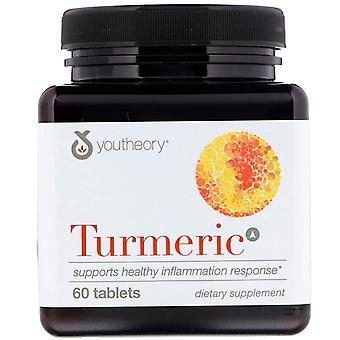 Youtheory, Turmeric, 60 Tablets
