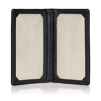 Black Malvern Leather Travel Card Holder
