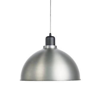 1 Light Dome Ceiling Pendant Oxide Grey, E27
