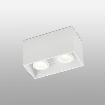 Faro Tecto - 2 Light Square Surface Mounted Downlight Weiß, GU10