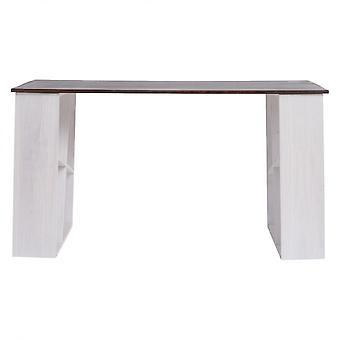 Rebecca muebles mesa de escritorio pc puerta de madera blanca urbana 75x140x60
