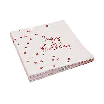 32PCS Disposable Paper Napkins Birthday Party Supplies 3-Ply