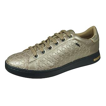 Geox D Jaysen A Womens Leather Trainers / Chaussures - Champagne