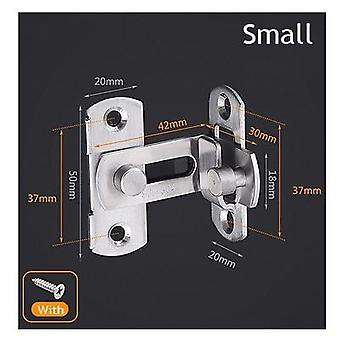 Stainless Steel 90 Degree Sliding Door Hasp Latch Locks -security Tools