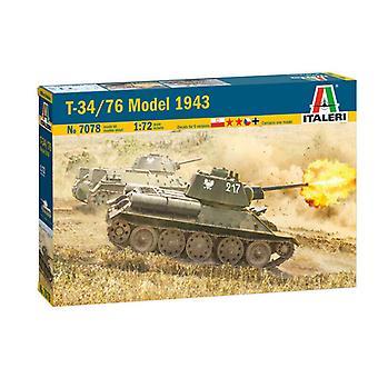 Italeri 7078 T-34/76 Mod 43 1/72 Model Kit