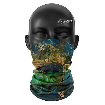 Grüner See Farben Snood Gesicht Maske Schal Neckerchief Kopfbedeckung Unisex Buff
