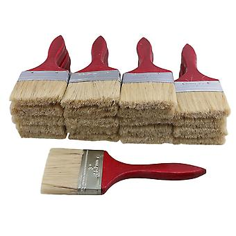 20pcs Red Wood Handle Chip Brush Oil Paint Brushes 3 Inch