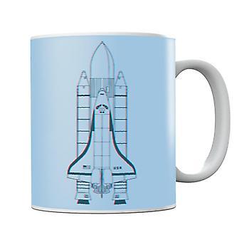 NASA Space Shuttle Enterprise 3D Effect Mug