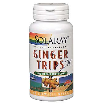 Solaray Ginger Trips, 60 Gummies