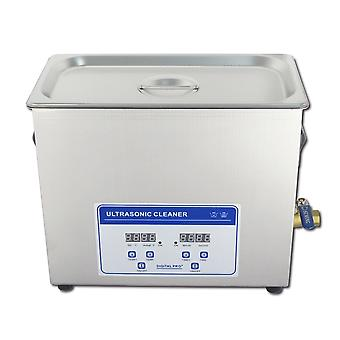 6.5l Professional Digital Ultrasonic Cleaner Machine With Timer Heated Stainless Steel Cleaning Tank 110v/220v