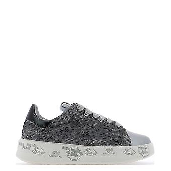 Premiata Belle4538 Dames's Grey Leather Sneakers