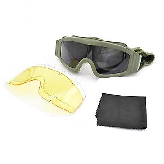 Military Tactical Goggles, Shooting Glasses Motorcycle Windproof Paintball Cs