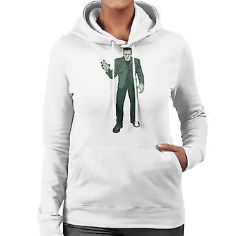 Frankenstein Monster Pose Illustration Women's Hooded Sweatshirt