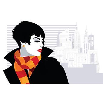Photo wall mural pop art fashion woman in new York