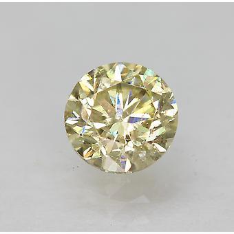 Cert 0.74 Karat Fancy Yellow VS2 Runde brillant verbessert natürlichen Diamant 5,48 mm