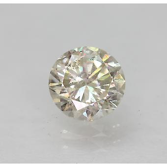 معتمد 0.49 قيراط I SI1 جولة رائعة المحسنة الطبيعية فضفاضة الماس 4.97mm
