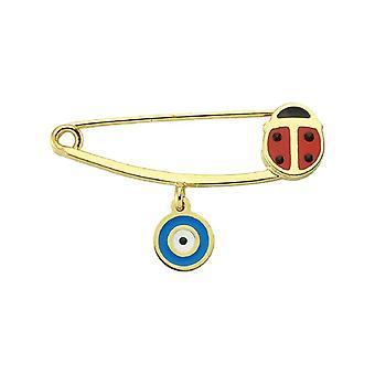 Dětská Beruška Zlatý pin
