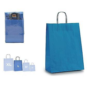 Papierowa torba niebieska (12 x 52 x 32 cm)