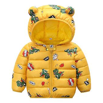 Children's Cotton Padded Clothes, Baby Cartoon Light And Thin Coat