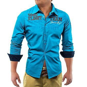 Lang ermet Polo skjorte Club Vintage menn skjorte MC Flight Team
