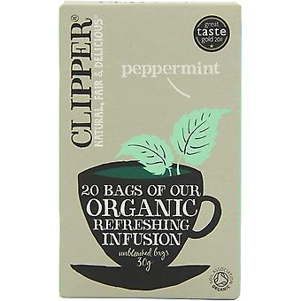 Clipper Organic Infusion Peppermint 30g - 20's x6