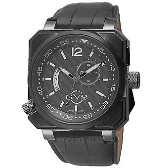 GV2 4524 XO Submarin GMT Black Case, Black Carbon Dial