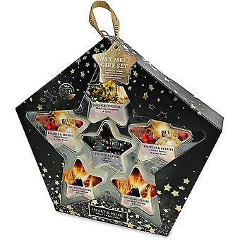 Heart & Home 6 Star Shaped Soy Wax Melt Christmas Gift Set