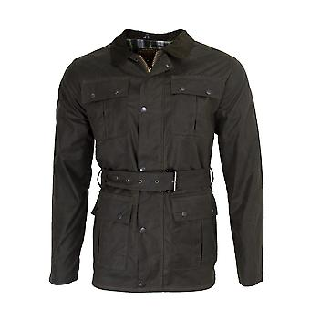 Walker and Hawkes - Mens Classic Belted Waxed 4 Pocket Motorcycle Waterproof Jacket