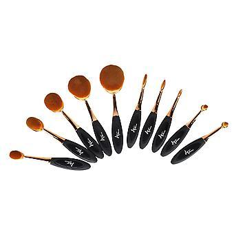 Brosses à dents ovales Face Makeup Set 10PCS