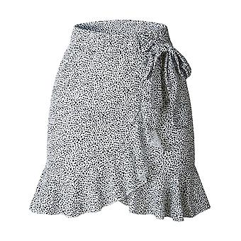 Retro High Waist Short Print Skirt Woman Loose Fashion Casual Party Bottoms