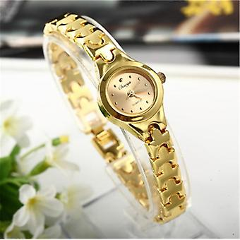 Women Bracelet Watch Golden Small Dial Quartz Popular Wristwatch Female Ladies