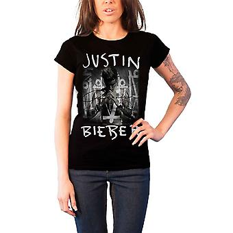 Justin Bieber T Shirt Purpose Album Cover Official Womens New Black Skinny Fit