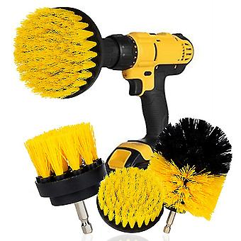 Brush 3Pcs/Set Plastic Round Cleaning Brush For Carpet Glass Car Tires Nylon Brushes Use For Electric Scrubber Brush Drill