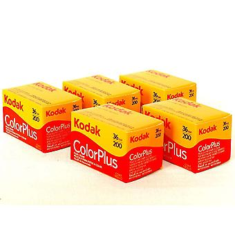 Kodak colorplus 5 pakkaus 200asa 36exp kalvo
