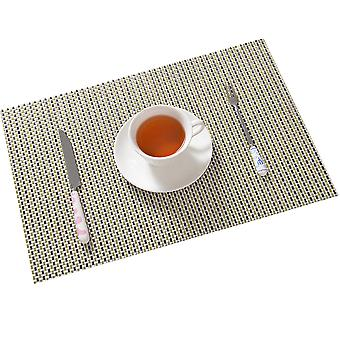 Homemiyn Set Of 4 Placemats Heat Resistant Dining Table Place Mats Kitchen Table Mats 30*45cm