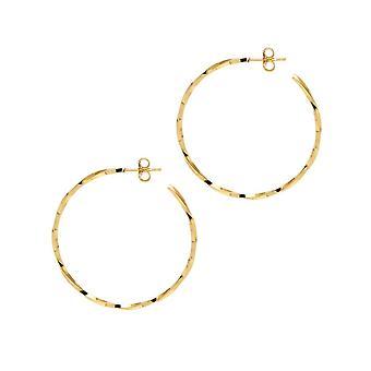 The Hoop Station La LAGO Di COMO Gold Plated 38 Mm Hoop Earrings H27
